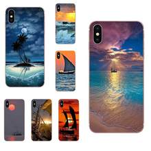 Soft Shell Phone Case For Samsung Galaxy Note 5 8 9 S3 S4 S5 S6 S7 S8 S9 S10 5G mini Edge Plus Lite Sunset Ship On Big Island(China)