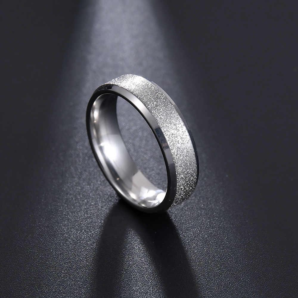 MMS 5 สีแมวตาสแตนเลสแหวนแปรงแต่งงานแหวนมันวาวแหวนผู้หญิงผู้ชายValentineของขวัญวัน