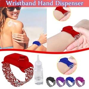 Adult and children outdoor bracelet hand sanitizer alcohol dispensing silicone bracelet watch strap (including bottle) 50*