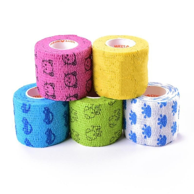 1 Pc Cartoon Tape Waterproof Self Adhesive Elastic Bandage Muscle Tape
