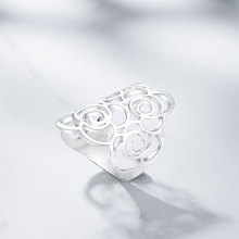 Viennois Brand New White Gold Plated Hollow Flower Rings For Women Party Size 7 8 9 Finger Ring Female Fashion Jewelry