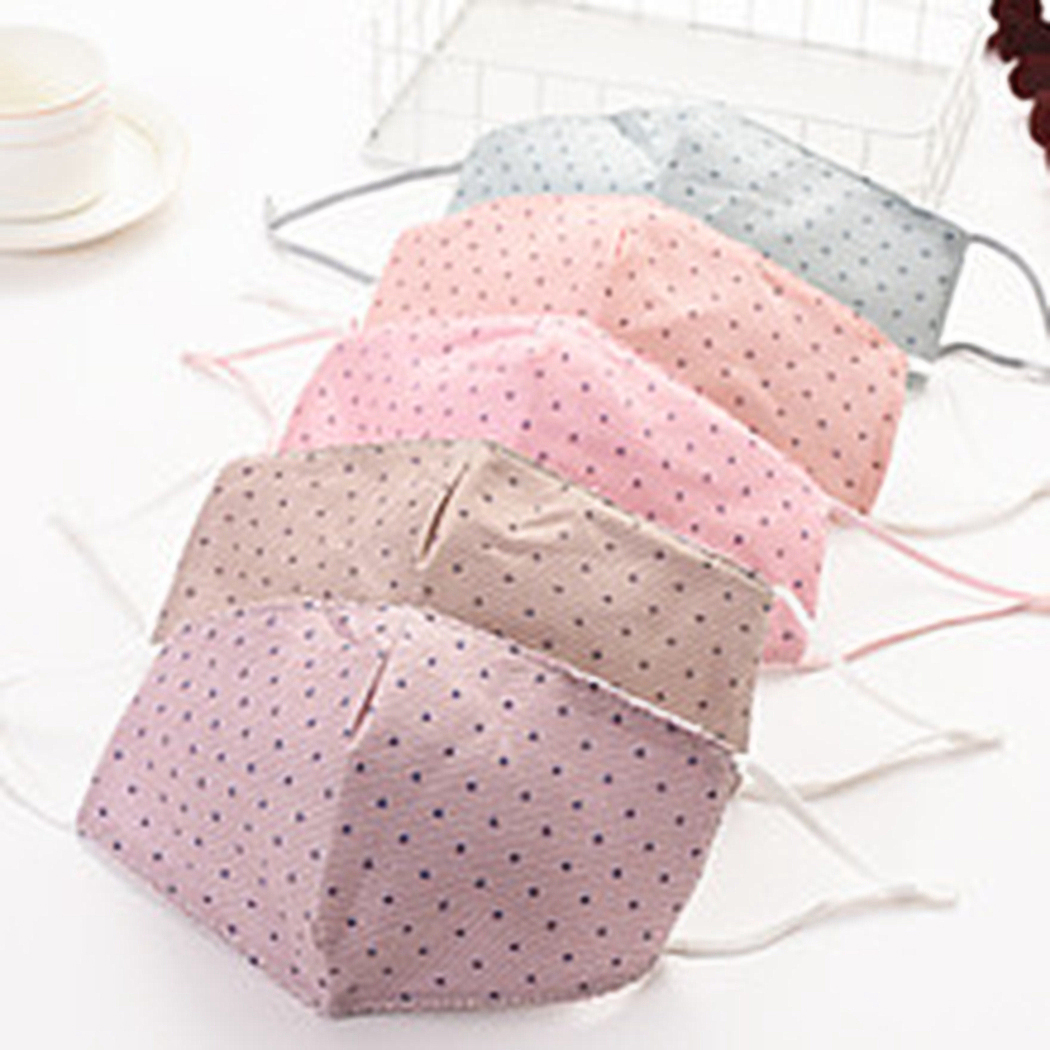 5pcs Cotton Dustproof Mouth Face Mask Unisex Korean Style Star Pattern Cycling Anti-Dust Cotton Facial Protective Cover Masks