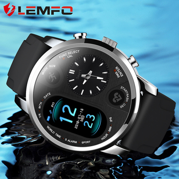 LEMFO T3 PRO Smart Watch Men Blood Pressure Heart Rate Dual Time Bluetooth Activity Tracker Sport Smartwatch for IOS Android 1