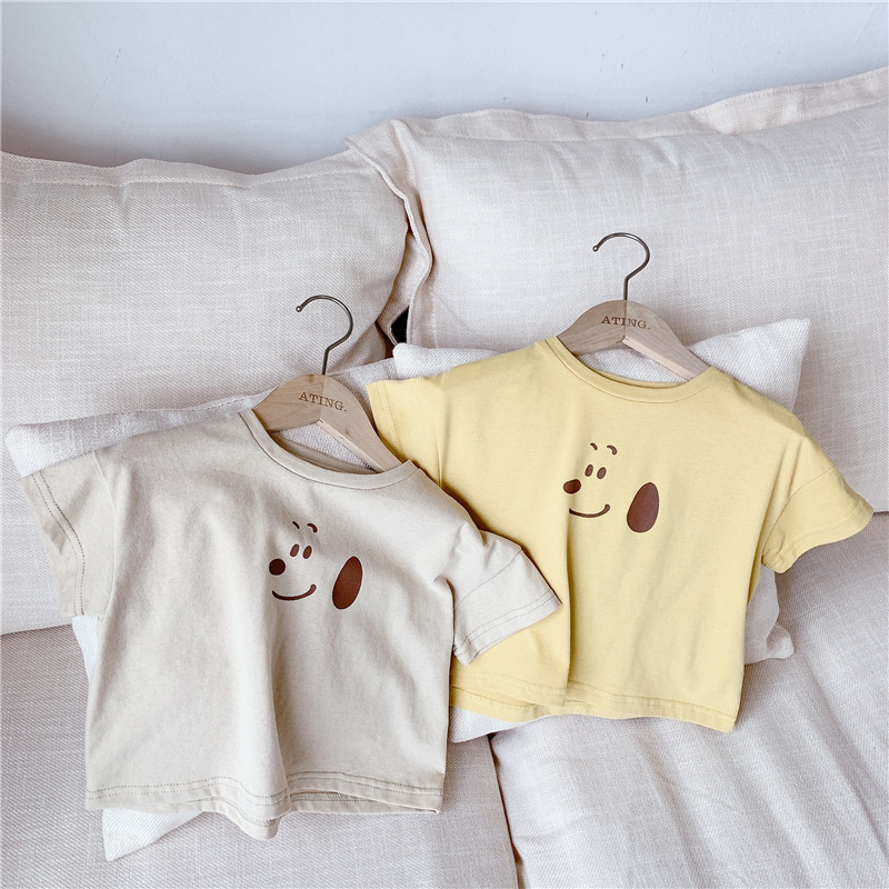 3776 Summer <font><b>2</b></font> Colors Baby Kids T <font><b>Shirts</b></font> New Girl's Korean Summer Cartoon Printed Tops Children's Short Sleeve T-<font><b>shirt</b></font> image