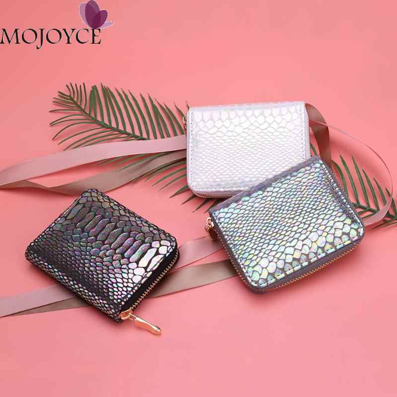 Nowe mody kobiet portfel Sexy wzór wężowy kopertówka ze skóry PU torba kobiety PU skórzany portfel posiadacz karty