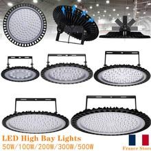 2pcs 50W100W 200W 300W 500W 220V UFO LED High Bay Lights Lumen Factory Lighting Waterproof Industrial Warehouse
