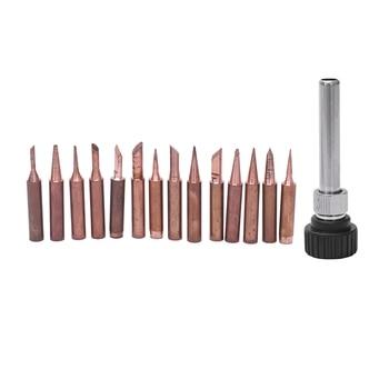 15PCS pure copper solder Iron tip 900M tip for soldering rework station for 936, 937, 938, 969, 8586, 852D