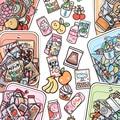 40 stücke Lebensmittel Serie aufkleber Set Kawaii Cartoon Tagebuch Album Schreibwaren Aufkleber ästhetischen Dekorative collage planer Album