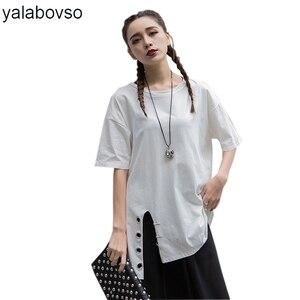 Летние Стильные Свободные футболки с блестками, повседневные футболки с круглым вырезом, пуловеры, хлопковые топы для женщин, A67-41505, Z20, 2020