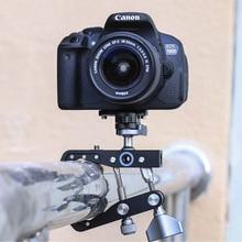 Металлический зажим Кронштейн закрепительный зажим портативный путешествия фотографии видео запись Штатив для Canon sony Nikon DSLR камеры аксессуары