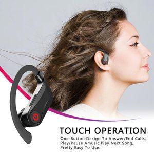 Image 2 - Caletop sport bezprzewodowe słuchawki zaczep na ucho słuchawki douszne IPX5 wodoodporne słuchawki douszne z mikrofonami dla iphonea dla Xiaomi