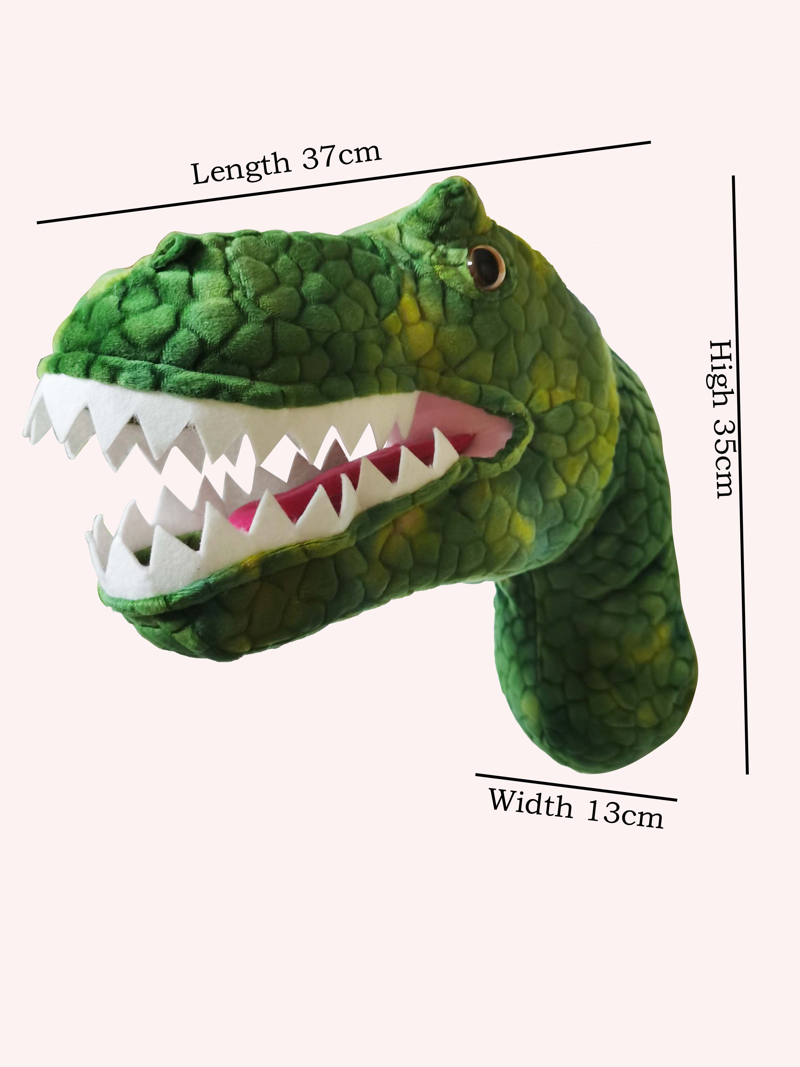 Image 3 - 2020 New design promotion gift  T Rex Head for wall decorationReal Life Plush   -