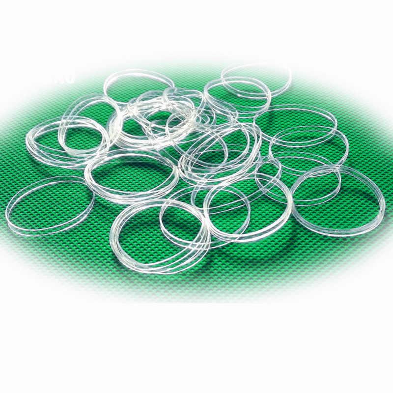 100 Uds. Accesorios desechables para el cabello Mini trenzas banda elástica para atar Cola de Caballo soporte elástico goma transparente accesorios para niñas