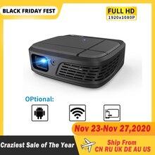 Портативный Умный домашний кинотеатр, кинотеатр, Wi Fi, DLP, мини 3D HD светодиодный карманный проектор, видео, USB для Full HD 1080P, проектор с беспроводным экраном