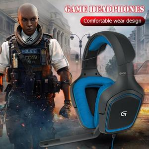 Image 4 - Logitech G430 7.1 Surround Game Stereo USB Cable Headset Adjustable Noise Reduction Rotary Headset w/Mic for PC/ PUBG Headphone