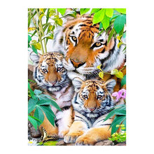 tiger mother and son animal Moge Diamond Painting Full Round New DIY sticking drill cross stitch 5D embroidery home decorative