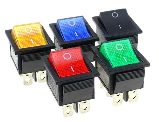XtremeAuto/® 12v LED Illuminated On//Off Rocker Switch Red