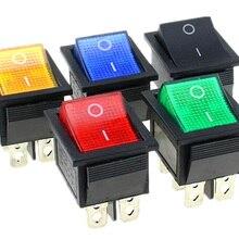KCD4 кулисный переключатель ВКЛ-ВЫКЛ 2 положения 6Pin с выключатель света 31*25 16A 250VAC 20A 125VAC черный/красный/синий/желтый/зеленый