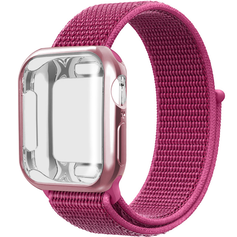Nylon Strap + Case For Apple Watch Series 5 4 3 2 1 42mm 38mm Pulseira Band For Iwatch 40mm 44mm Sport Bracelet