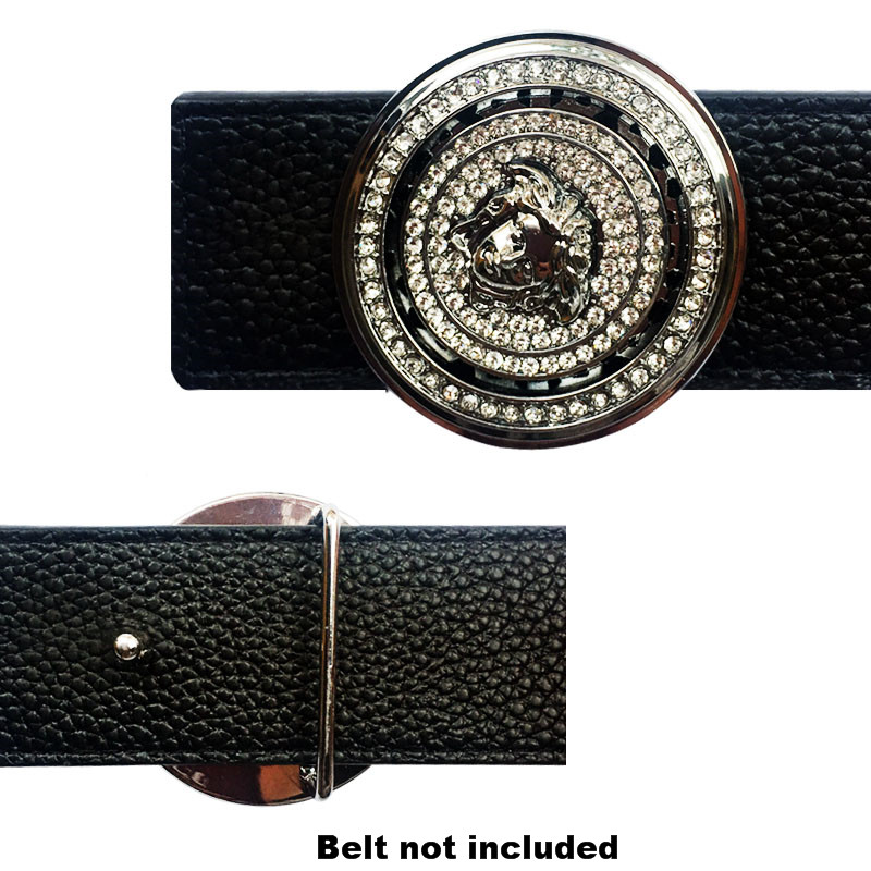 Trending Luxury Icon Men's Belt Buckles  Suitable For 4 Cm Width Belts Gold And Silver Metal Accessories