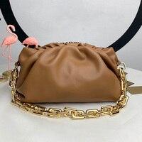 2020 New Style Fashion Luxury Designer Cowhide Handbag Chain Pouch Women Shoulder Bags Soft Genuine Leather Female Bag