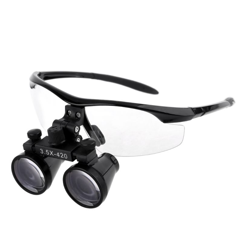 OOTDTY 3.5X Head Wearing Dental Loupe Magnifier Goggle Dentist Binocular Surgical Loupe A5YD