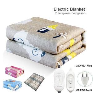 Image 1 - Elektrikli battaniye çift 220v sıcak ısıtıcı yatak termostat yumuşak elektrikli yatak ısıtıcılı battaniye isıtıcı isıtıcı halı abd ab