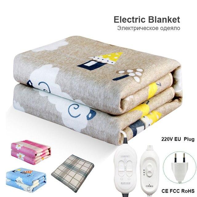 Elektrikli battaniye çift 220v sıcak ısıtıcı yatak termostat yumuşak elektrikli yatak ısıtıcılı battaniye isıtıcı isıtıcı halı abd ab