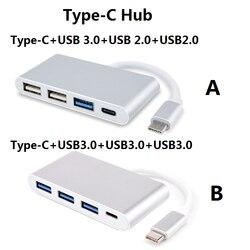 Wielofunkcyjny Adapter OTG type-c na USB 3.0 + USB2.0 + konwerter Hub type-c do laptopa Apple Macbook