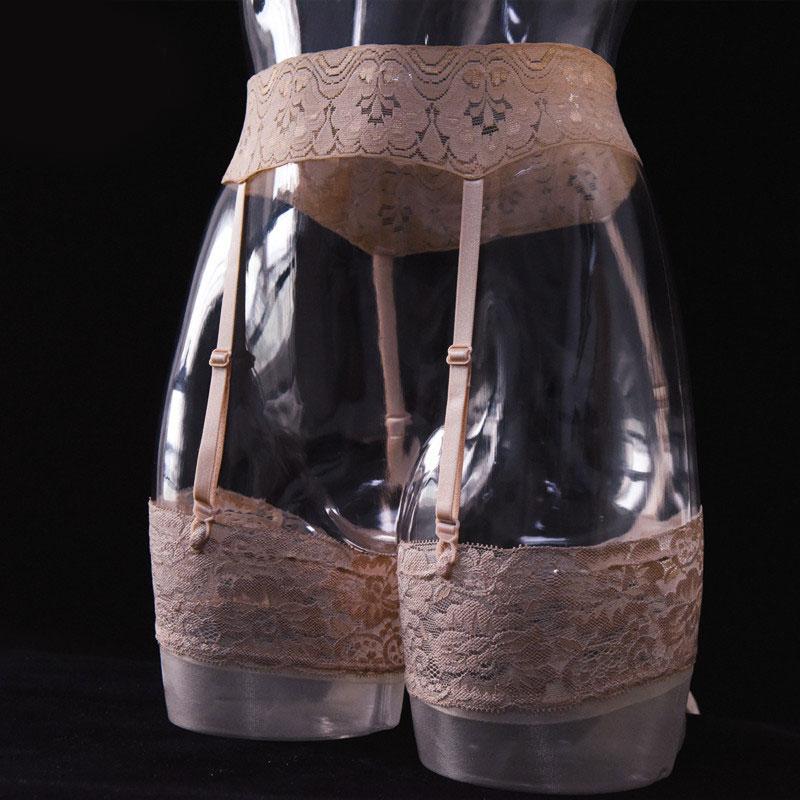 Сексуальный женский ажурный кружевной пояс с резинками для чулок конфетного цвета 4 ремешка сексуальные стринги с чулками Эротическое бель...