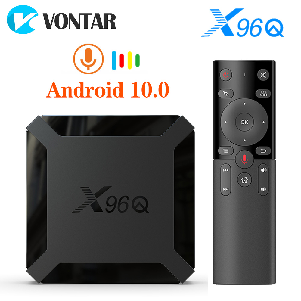 VONTAR X96Q Smart TV Box Android 10 4K Allwinner H313 Quad Core 2GB 16GB  Netflix Youtube Set Top Box TVBOX 10.0  Media Player