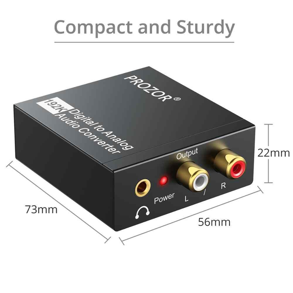 Proster Digitale Ottico Toslink SPDIF Coassiale Ad Analogico Audio converter decoder Ottico a RCA Adattatore Audio 5.1CH per 2.1CH L /R