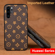Tide Simple Business Leather Cases For Huawei P20 P30 mate20 mate10 Nova5 Nova4 Fashion New