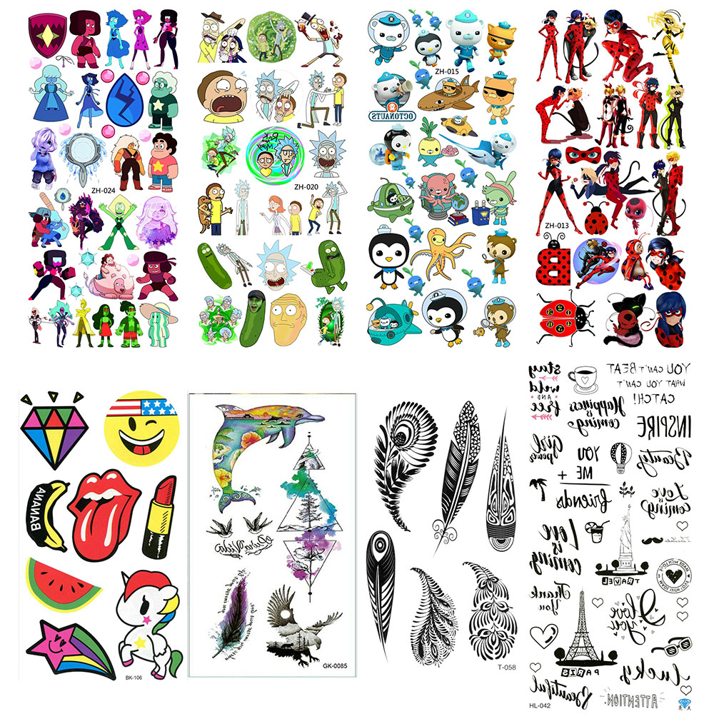 Chest Tattoo Tatoo Fake Temporary Paper Tattoos Cool For Hand Tatto Sticker Tatu Sleeves Flash Tato Tattos Cute Body