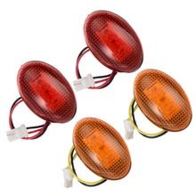 цена на 4pcs/set 3LED Car Smoke Side Front Rear Side Marker Lights Amber+Red Fender Marker LED Light Lamp Fit For Ford F350 1999-2010
