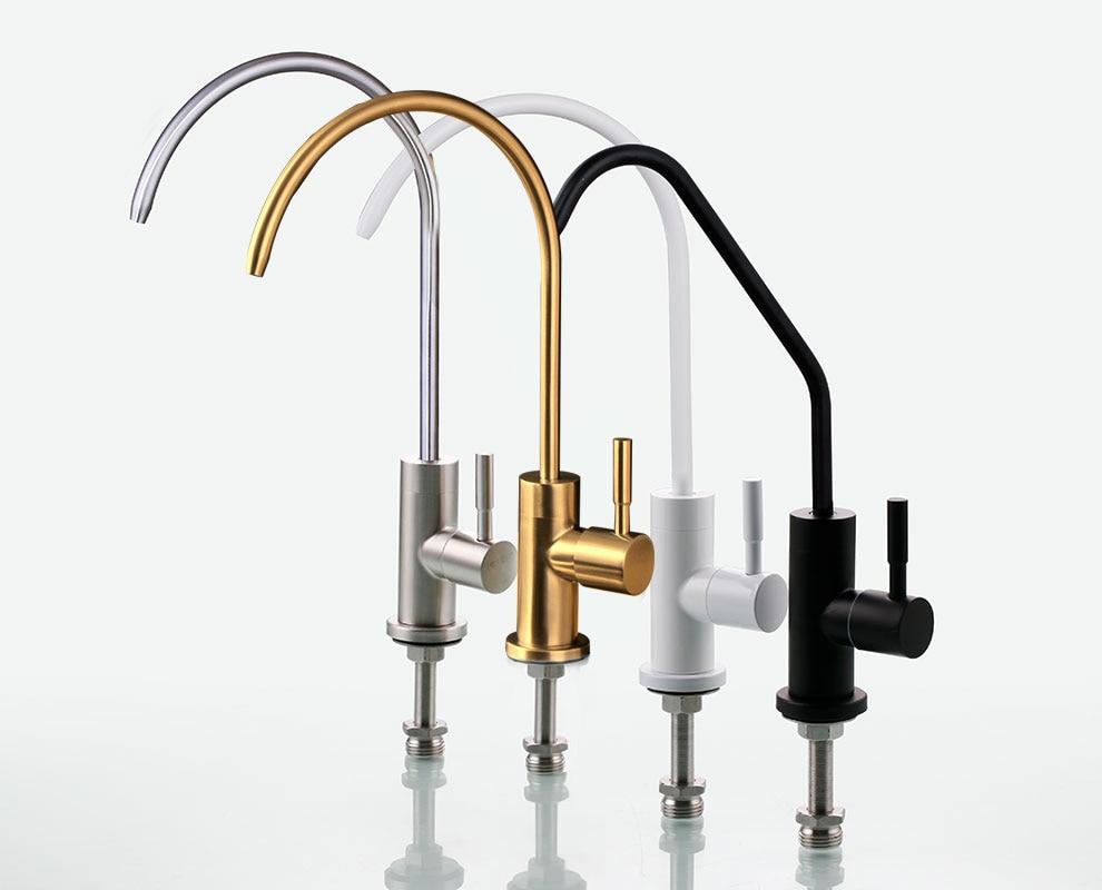 Роскошный кухонный смеситель золотого цвета, черный кран для питьевой воды, белый цвет, смесители для кухни
