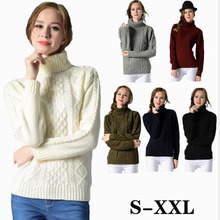 Winding Knitted Sweaters Women Fashion Long Sleeve Turtleneck Sweater Pullovers Sleeves  Twisted Bottoming