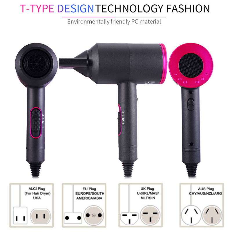 Hair Blow Dryer 2000 Professional Hair Dryer Small Mini 110v Hair Dryer Ionic US Plug Portable Hairdryer Travel For Bathroom
