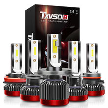 Светодиодная мини лампа txvso8 h7 6000 лм 9005 k h1 9006 hb3