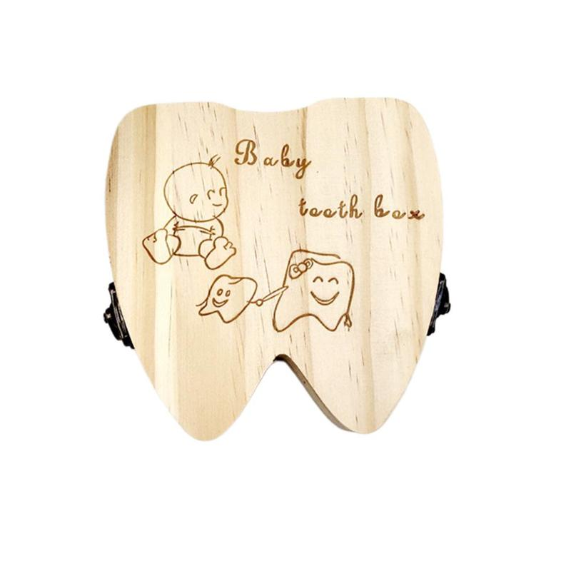 Baby Growth Milk Teeth Storage Memorial Case Lanugo/Umbilical Cord Natural Logs Storage Box For Baby Age 0-6 Creative Gift Box