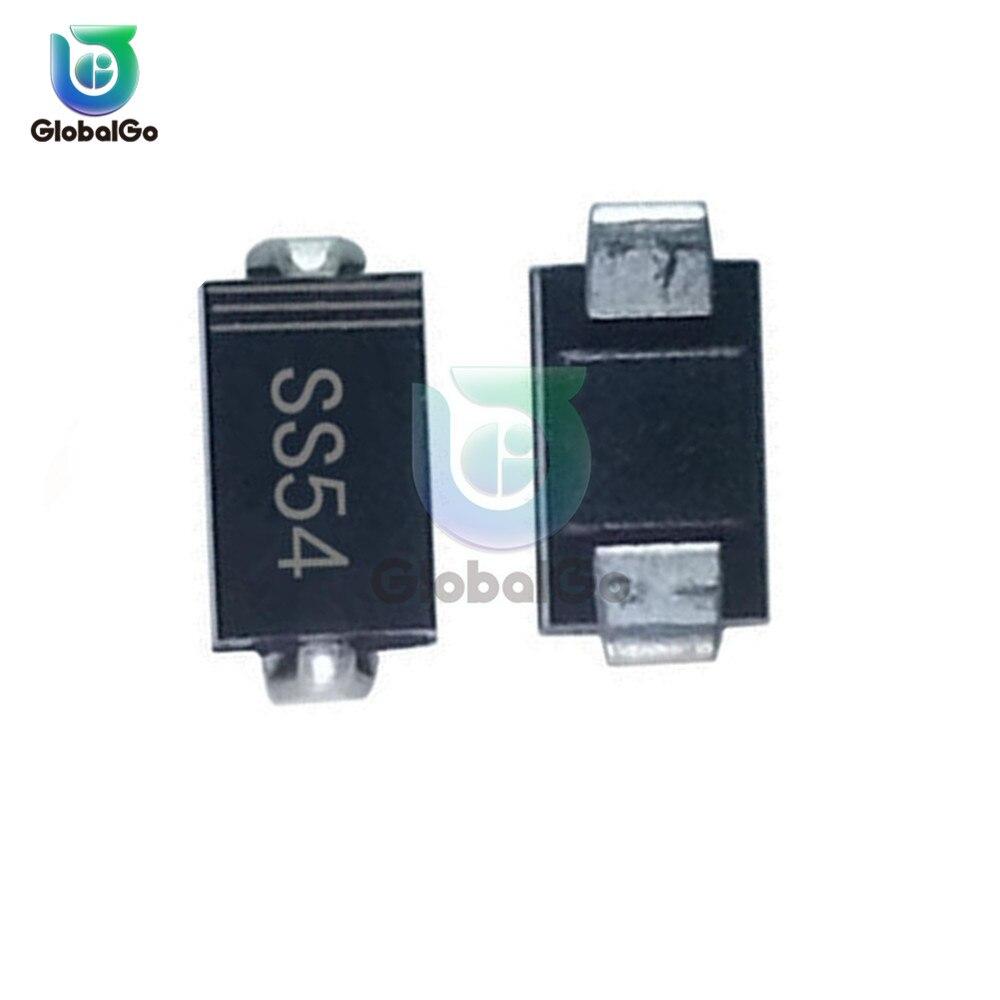 SS54 5A 40V SS 54 Diodo Schottky SMD Do Diodo Para O Motor Para A Placa de Circuito Retificador