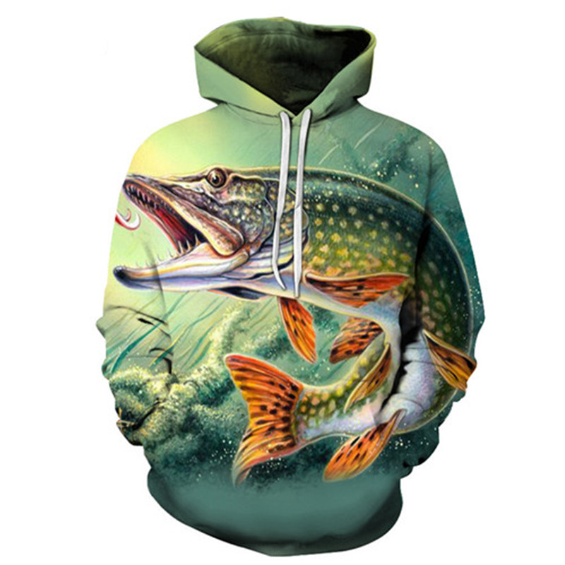 Fashion New 3D Hoodie Men Hoody Funny Fish Sweatshirts Anime Tracksuits Print Coat Pullover Jacket  Men And Women Hoodies Asian Size S-6XL