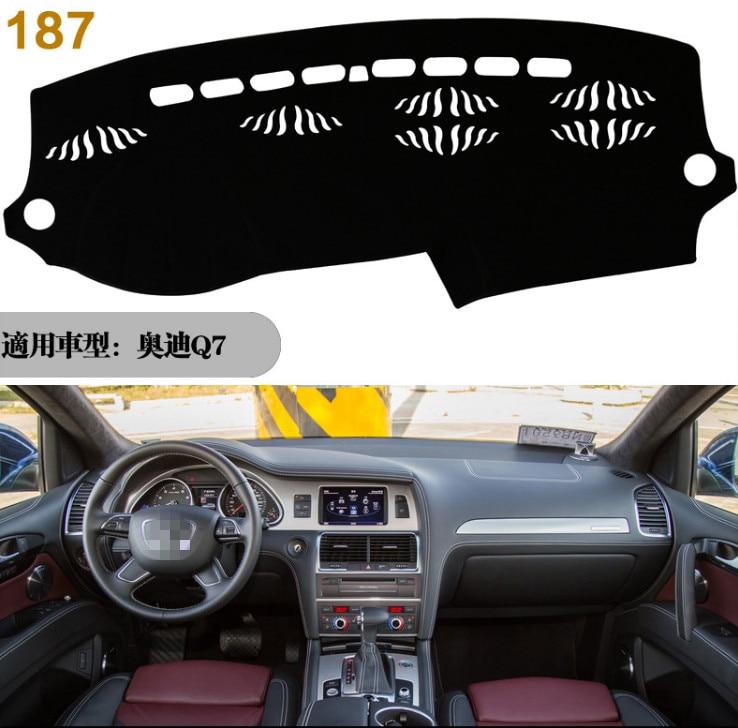 Для AUDI Q7 2016 2017 2018 2019 правый и левый руль приборной панели автомобиля чехлы коврик тенты подушка коврик ковры аксессуары