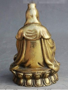 "Image 5 - י""מ 308 סיני בודהיזם פליז לשבת אגרטל משלוח קוואן yin GuanYin הבודהיסטווה אלת פסל"