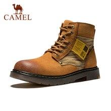 Zapatos de senderismo de cuero de vaca de CAMEL para exteriores de alta calidad para hombres, masaje antideslizante transpirable, Botas de senderismo y escalada