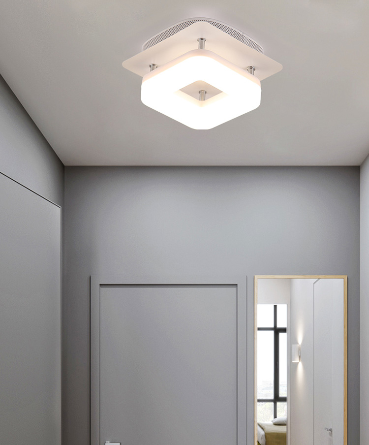 Hda9102188c1840a9b8b1712d39a7627e7 Artpad Modern Flush Mount Ceiling Light Hallway Porch Balcony Lamp Interior Lighting Surface Mounted Square LED Ceiling Lights