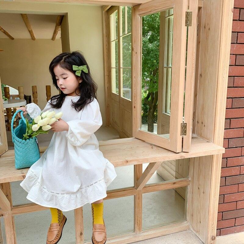 Свободные платья для отдыха для девочек, детское Хлопковое платье с длинными рукавами в Корейском стиле, платья принцессы для маленьких девочек, детская одежда|Платья|   | АлиЭкспресс