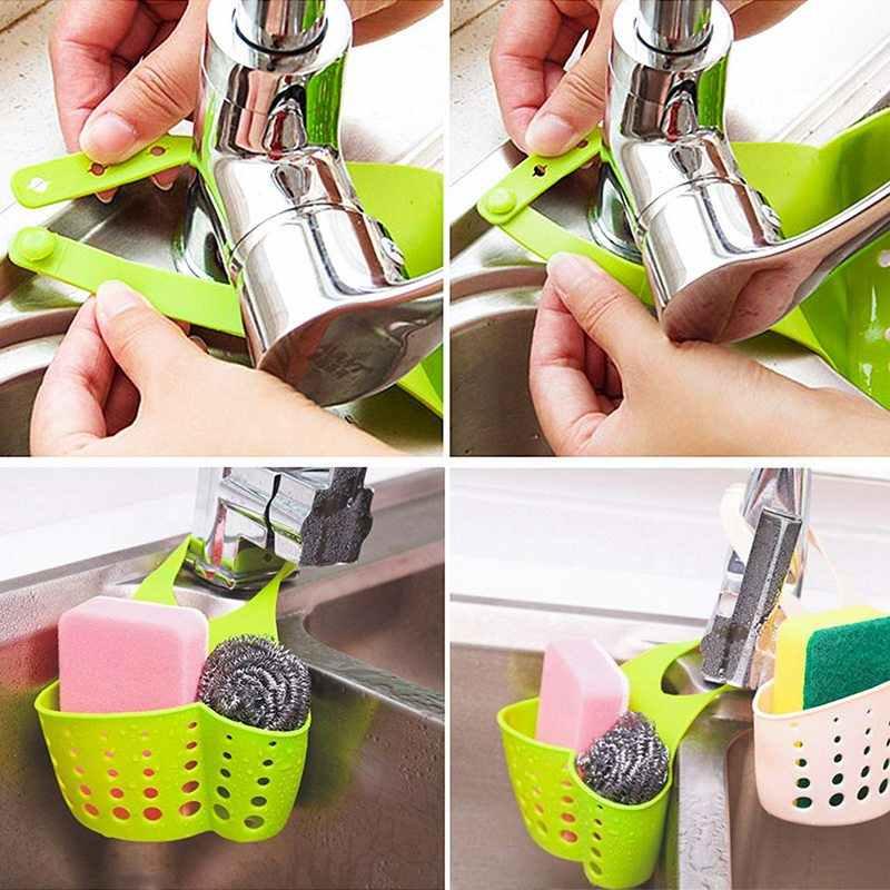 キッチン棚収納バスケット調節可能なバックルぶら下げ蛇口スポンジ排水収納ラックキッチンバスケットバスルームオーガナイザー