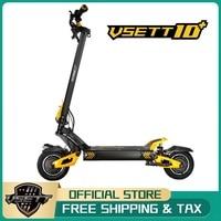 VSETT-patinete eléctrico todoterreno, 10 + 10 pulgadas, vset10 + Hoverboard actualizado ZERO 10X, Doble accionamiento, 60V, 2800W, Motor Dual, VSSET Plus