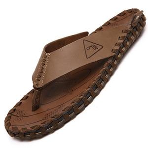 Japonki męskie letnie oryginalne skórzane kapcie męskie antypoślizgowe Split Toe Casual z wystającym palcem gumowe podeszwy męskie buty plażowe